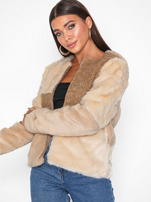 Only onlALEXIS Mix Faux Fur Jacket Otw Ljus Grå