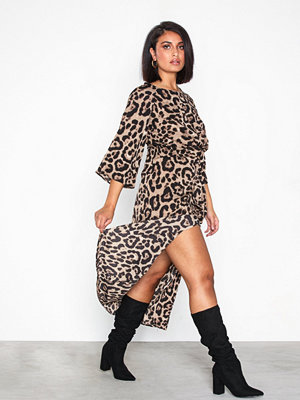 Ax Paris Long Sleeve Leopard Dress Multi