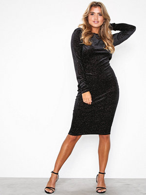 Forever Unique Glitter Midi Dress
