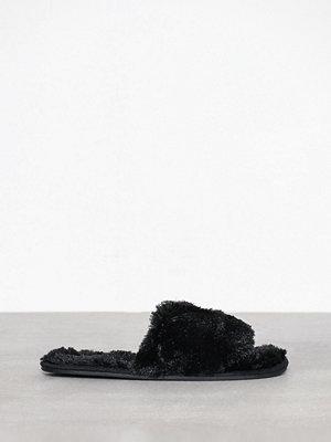 Pyjamas & myskläder - P-J Salvage Fur Sliders Svart