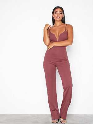 NLY One Metal Bar Plunge Jumpsuit