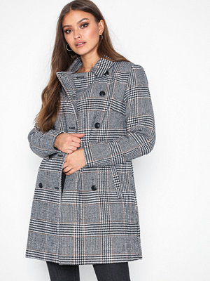 Only onlLINNEA Long Check Coat Otw