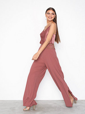 River Island Crystal Cowl Neck Jumpsuit