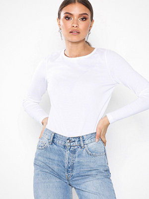 New Look Long Sleeve Crew Neck T-Shirt White