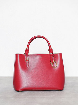 Lauren Ralph Lauren Medium Satchel Röd