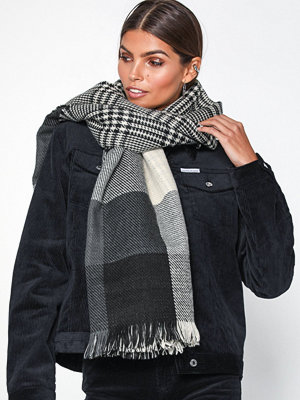 Only onlFAITH Doublesided Check Scarf Ac Black