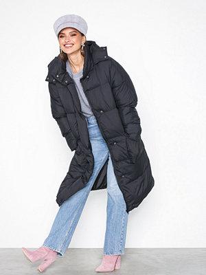 Missguided Longline Puffer Jacket Black