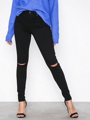 Topshop Black Rip Jamie Jeans Black