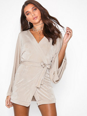 Missguided Slinky Plunge Neck Midi Dress