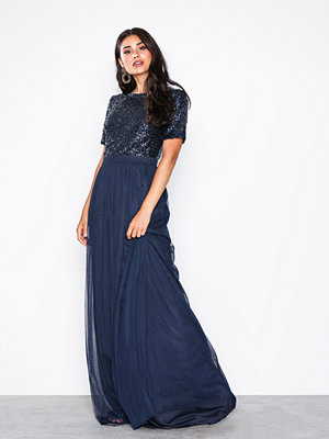 NLY Eve Sprinkle Short Sleeve Gown Navy