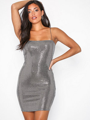NLY One Mini Sparkle Dress Silver