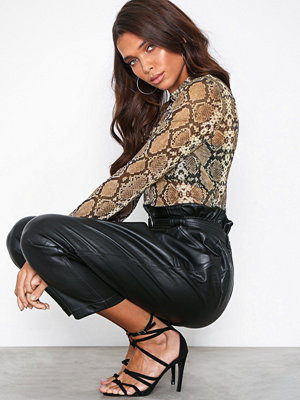 NLY Trend Print Light Mesh Top Snake