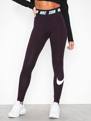 Leggings & tights - Nike NSW Club Legging HW Burgundy