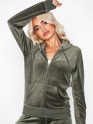 Street & luvtröjor - Juicy Couture Luxe Crown Velour Robertson Jacket Grey