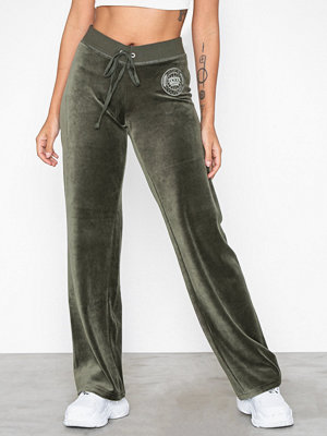 Juicy Couture omönstrade byxor Luxe Crown Velour Mar Vista Pant Grey