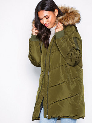 NLY Trend Quilted Puffer Jacket Grön