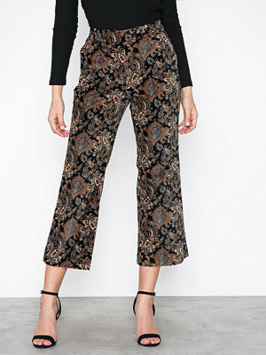 MICHAEL Michael Kors mönstrade byxor Crop Flare Pant Gold