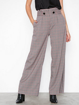 Closet rutiga byxor Pleated Waist Trousers Red