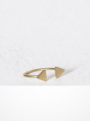 MINT By TIMI 2 triangle ring Guld