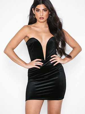 NLY One Deep Plunge Velvet Dress