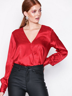 NLY Trend Wrap Jacquard Blouse