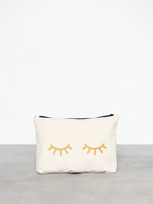 MINT By TIMI vit kuvertväska med tryck Canvass Pouch Metallic-Eyes Guld