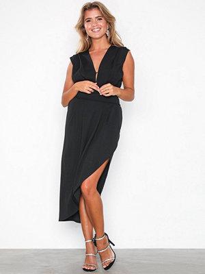 Honor Gold Haven Crepe Midi Dress Black