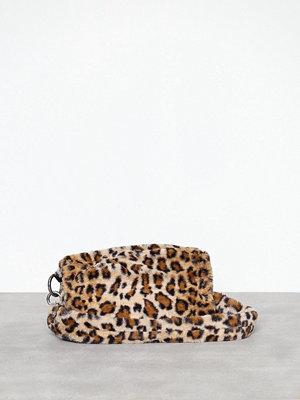 Topshop mönstrad axelväska Teddy Faux Fur Shoulder Bag Leopard