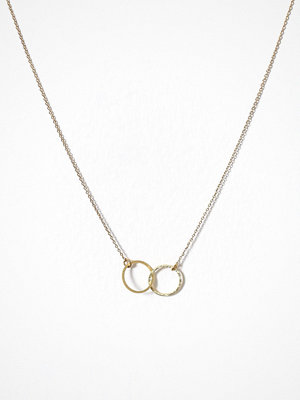 MINT By TIMI halsband Double Circle Necklace Guld