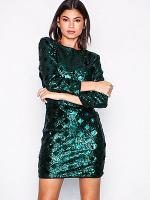 NLY Trend Belted Sequin Dress Grön