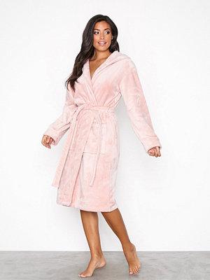 Morgonrockar - Lindex Fleece Robe Light Pink