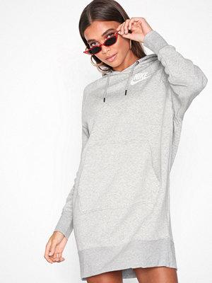Nike NSW Rally Hoodie Dress Grå Melange