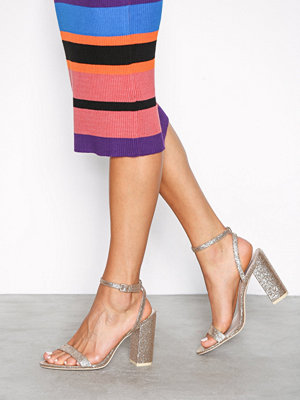 Pumps & klackskor - NLY Shoes Brilliant Block Heel Sandal Guld