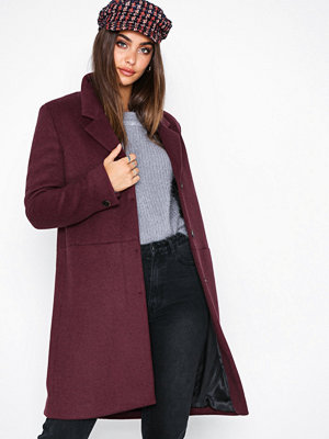 Selected Femme Slfboa Wool Coat B Lila