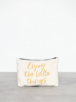 MINT By TIMI vit kuvertväska med tryck Canvass Pouch Metallic-Enjoy