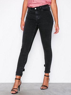 Vila Vicommit Destina 7/8 Skinny Jeans Svart