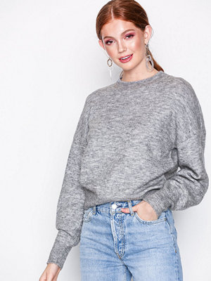 Noisy May Nmhanne L/S High Neck Knit 6 Ljus Grå