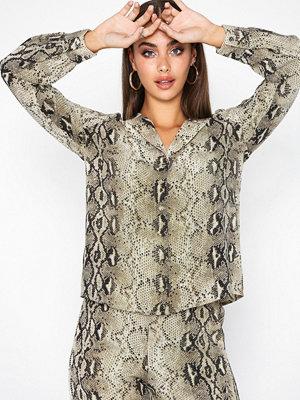Skjortor - Vila Viamella L/S Shirt/Rx Ljus Grå