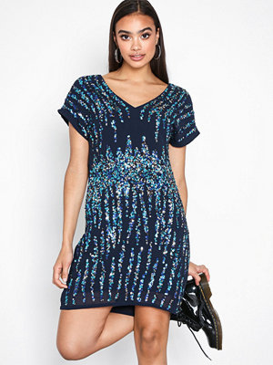 Y.a.s Yastrighty Sequin Dress - Da Mörk Blå