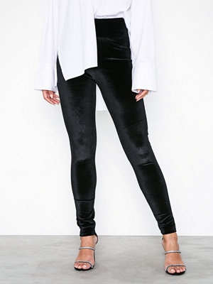 Leggings & tights - NLY Trend Velvet Leggings Svart