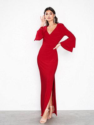 Lauren Ralph Lauren Ashlynara-3/4 Sleeve-Evening Dress Red