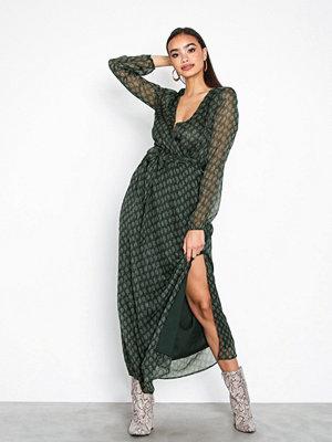 Neo Noir Raja Printed Dress Green