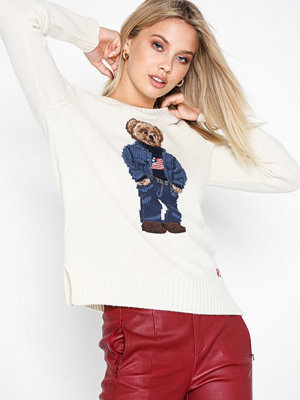 Polo Ralph Lauren Denim Bear-Long Sleeve-Sweater Natural