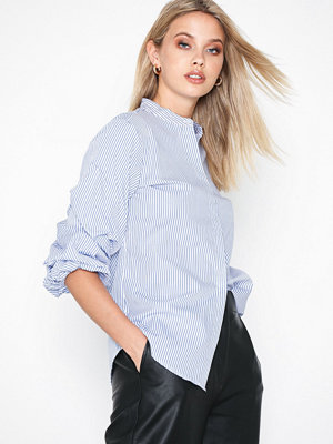 Lauren Ralph Lauren Reyna-Long Sleeve-Shirt Blue