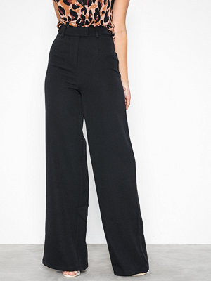 Missguided svarta byxor Tailored Wide Leg Black