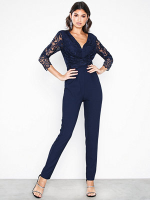 Little Mistress Lace Trim Jumpsuit