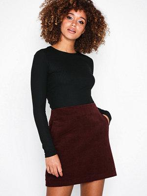 New Look Corduroy Mini Skirt Wine