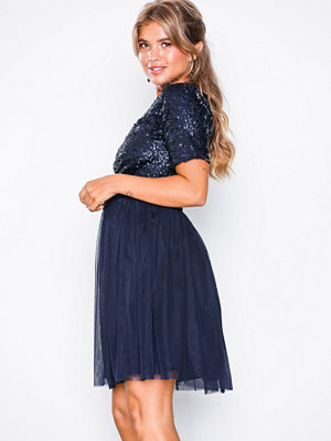 NLY Eve Sprinkle Short Sleeve Dress Navy