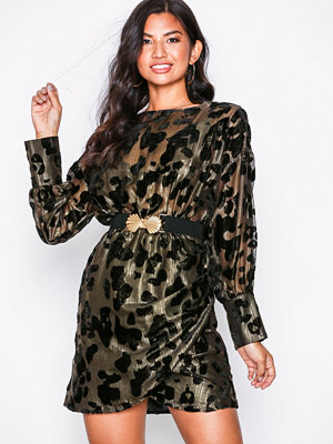 NLY Trend Draped Belted Dress Svart