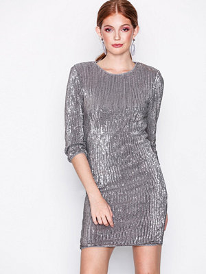 NLY Trend Sequin Power Dress Silver